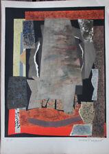 Max PAPART Lithographie lithograph signée numérotée le potier Vallauris 1970