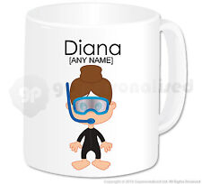 Personalised Diving Gift Scuba Diver Mug Cup Novelty Girl Divers Present Idea #2