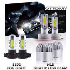 4x Combo Pack H13 9008 LED Headlight + 5202 Fog Lights For 2008-2012 Ford Escape