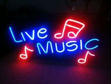"New Live Music Beer Pub Bar Neon Sign 17""x14"""