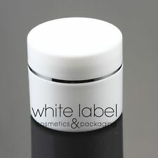 50G WHITE/SILVER DOUBLE WALL COSMETIC CREAM JAR WHOLESALE - NEW 100PCS/LOT
