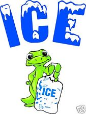 "Ice Bag Decal 24"" Concession Gecko Truck Cart Food Truck Menu Vinyl Sign"