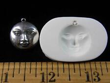 Moon Face Polymer Clay Mold (#MD1184)