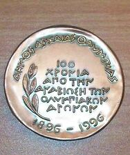 Rare OLYMPIC COMMEMORATIVE MEDALLION 100 YEARS from the REVIVAL of the  O.GAMES