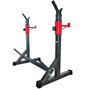 Adjustable Squat Rack Fitness Muscle Power Weight Lifting Barbell Stand Home Gym