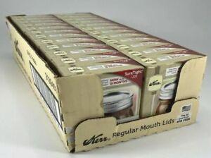 Kerr Regular Mouth Canning Jar Lids 24 Boxes, 288 Lids Total Sure Tight BPA Free