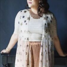 NWT LuLaRoe Elegant Joy L -Large *GOLD SILVER COPPER STARS on SHEER*