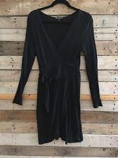 Women's Size Small Blu Heaven Nordstrom Black Dress Work Funeral V Neck