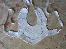 Former bib N04 cotton Knit Little baby baby VINTAGE Old baby bib knitted cotton