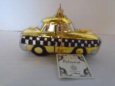 Kurt Adler Polonaisi Hand Blown New York Yellow Taxi Christmas Ornament