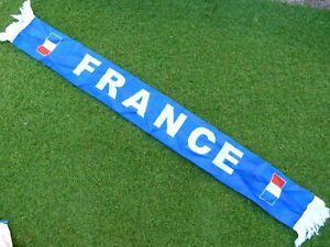 Echarpe scarf satin FRANCE FFF signée signed BLAISE MATUIDI ultra foot