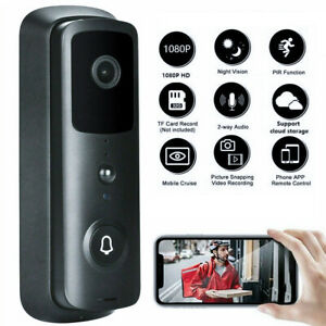 1080P WiFi Wireless Smart Video Doorbell Phone Intercom Home IR Security Camera
