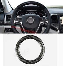 Carbon Fiber Inner Steering wheel cover trim For Jeep Grand Cherokee 2014-2018