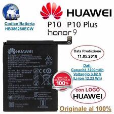 Huawei HB386280ECW 3200 mAh Batteria Originale per Huawei P10, Honor 9 - Nero