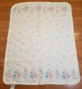 Vintage Baby Blanket Eastman Kodak Dutch Girl/Boy Windmill