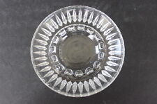 Vintage Clear Crystal Small Round Ashtray 15 Knob Rests 40 Diamonds Underside