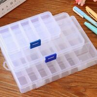 15/24 COMPARTMENT ORGANISER STORAGE PLASTIC BOX LOOM BANDS CRAFT NAIL ART