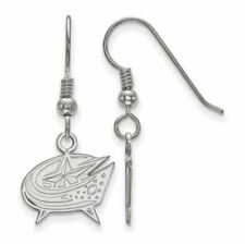 SS NHL Columbus Blue Jackets Small Dangle Earrings