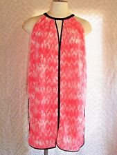 Skies Are Blue Pink & Navy Flowy Strapy Short Dress