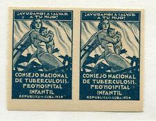 Vintage  Label seal Cuba 1939 Anti-tuberculosis Childrens Hospital