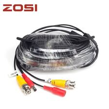 ZOSI 18.3m CCTV Power Video BNC + DC plug cable for CCTV Camera and DVR system