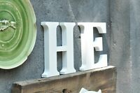 Large 23cm WOODEN LETTERS Small 15cm White Black Alphabet Wedding Home Birthday