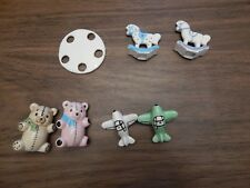 Vintage 1980's Ceramic Baby/Toys Parts for Nursery Mobile