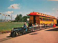 NATIONAL RAILROAD MUSEUM GREEN BAY WI TRAIN RIDE POSTCARD  T*