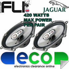 "Jaguar S Type 99-14 FLI 6""x8"" 420 Watts 3 Way Replacement Door Speakers Pair"