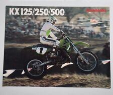 Kawasaki Brochure KX range 1988 KX500 D1, KX250 F1, KX125 F1 MX VMX