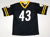 Troy Polamalu #43 Pittsburgh Steelers NFL Black Football Jersey Youth 2XL (18)