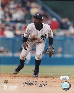 New York Yankees Alfonso Soriano Autographed Signed 8x10 Photo JSA COA #2