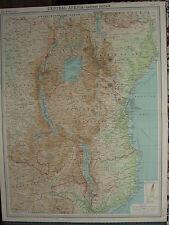 1920 LARGE MAP ~ CENTRAL AFRICA EASTERN SECTION KENYA COLONY UGANDA TANGANYIKA