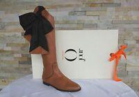 O JOUR Gr 38 Stiefel Boots stivali Schuhe shoes VARENNE brown NEU ehem UVP 950 €