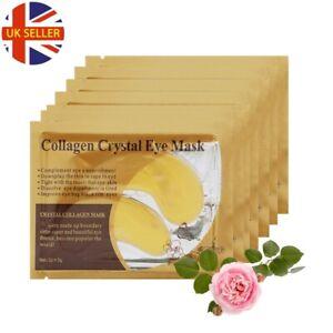 Crystal Collagen 24K Gold Under Eye Anti Aging Wrinkle Gel Pad Face Mask UK