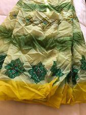 Vintage Saree Indian Silk Sari Used Sarong Dress Making Fabric Wrap 4 Yd Curtain