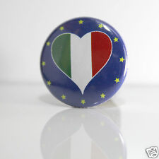 2 Badges Europe [25mm] PIN BACK BUTTON Italie
