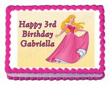 SLEEPING BEAUTY party decoration cake topper cake image frosting sheet