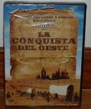LA CONQUISTA DEL OESTE EDICION ESPECIAL 3 DVD PRECINTADO NUEVO WESTERNS R2