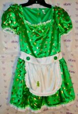 $42 new Costumes America dress 12-14 Child girl Irish apron waist lace trim