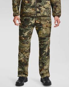 NEW Under Armour Storm Men's Large Cold Gear AU Camo Pants FOREST $160 L