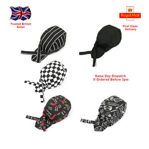 Chef's Skull Cap Chef Hat Professional Catering Chef Car Various Colours NEW UK