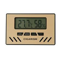 CIGARISM Gold Digital Hygrometer Thermometer Cigar Humidor (Without Battery) CN