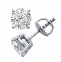 0,50 Cts Runde Brilliant Cut Natürliche Diamanten Ohrstecker In Solides 14K Gold