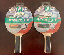 Prince Advanced Speed 700 Table Tennis Racket Set of 2 Silver SSC 8 Ping Pong