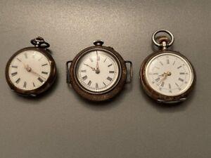 3 Taschenuhren  Taschenuhr Silber um 1900