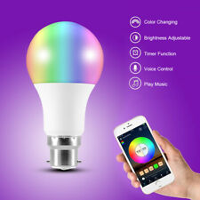 B22 Smart  RGB Bulb LED Bluetooth Light Lamp For Amazon Alexa APP Remote Control