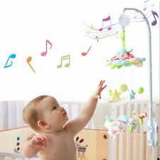 Baby Mobile Crib Bed Toys Kids Clockwork Movement Music Box Infant Bell Hook