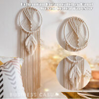Dream Catcher Macrame Wall Hanging Hand Woven Cotton Tapestry Tassel Home Dec 🔥