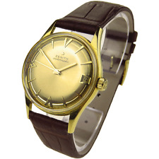 ZENITH VINTAGE 18K GOLD AUTOMATIC WRISTWATCH DATING CIRCA 1965